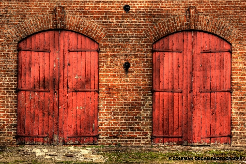 Big Red Doors Warehouse New Orleans HDR